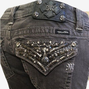 Miss Me Jeans SKINNY JP5489S DK Gray Silver
